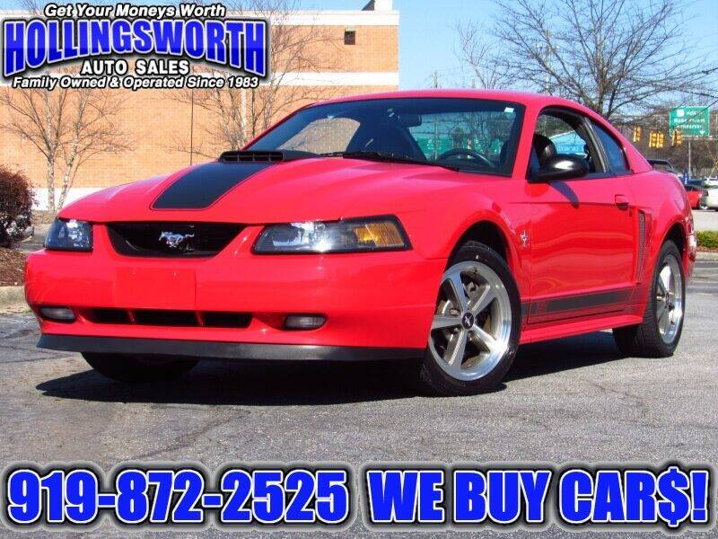 2003 Ford Mustang for sale at Hollingsworth Auto Sales in Raleigh NC