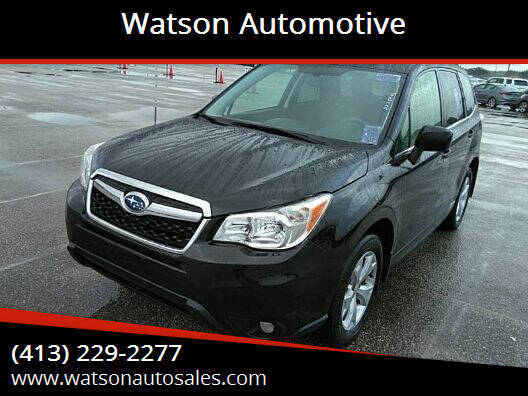 2014 Subaru Forester for sale at Watson Automotive in Sheffield MA