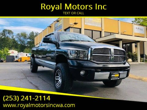2006 Dodge Ram Pickup 2500 for sale at Royal Motors Inc in Kent WA