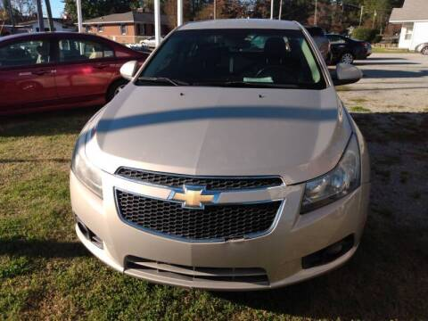 2012 Chevrolet Cruze for sale at Greenville Motor Company in Greenville NC