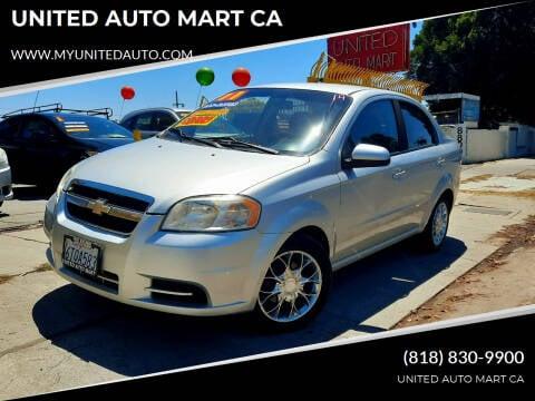 2011 Chevrolet Aveo for sale at UNITED AUTO MART CA in Arleta CA