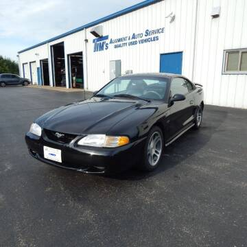 1997 Ford Mustang for sale at TIM'S ALIGNMENT & AUTO SVC in Fond Du Lac WI