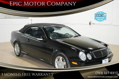2001 Mercedes-Benz CLK for sale at Epic Motor Company in Chantilly VA