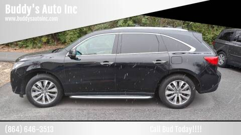 2016 Acura MDX for sale at Buddy's Auto Inc in Pendleton SC