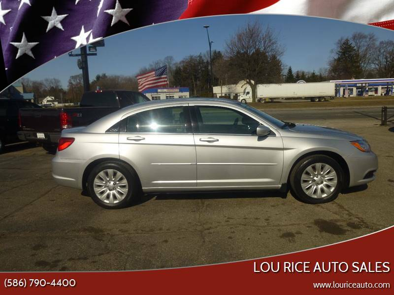 2011 Chrysler 200 for sale at Lou Rice Auto Sales in Clinton Township MI
