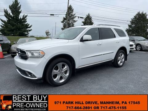 2015 Dodge Durango for sale at Best Buy Pre-Owned in Manheim PA
