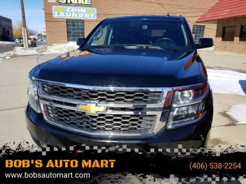 2015 Chevrolet Tahoe for sale at BOB'S AUTO MART in Lewistown MT
