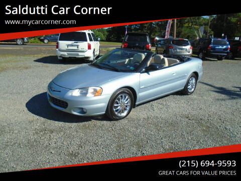 2001 Chrysler Sebring for sale at Saldutti Car Corner in Gilbertsville PA