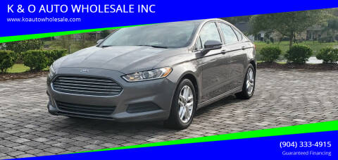 2013 Ford Fusion for sale at K & O AUTO WHOLESALE INC in Jacksonville FL