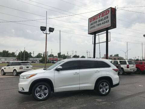 2014 Toyota Highlander for sale at United Auto Sales in Oklahoma City OK