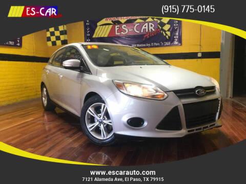 2014 Ford Focus for sale at Escar Auto in El Paso TX