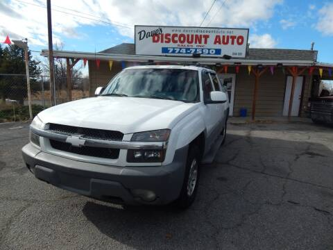 2002 Chevrolet Avalanche for sale at Dave's discount auto sales Inc in Clearfield UT