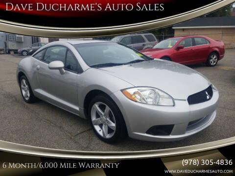 2009 Mitsubishi Eclipse for sale at Dave Ducharme's Auto Sales in Lowell MA
