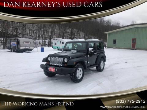2013 Jeep Wrangler for sale at DAN KEARNEY'S USED CARS in Center Rutland VT