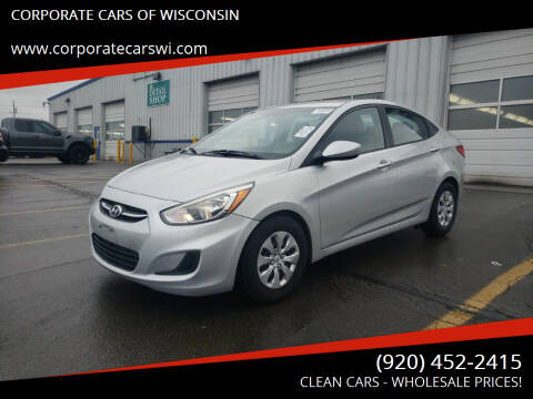 2015 Hyundai Accent for sale at CORPORATE CARS OF WISCONSIN - DAVES AUTO SALES OF SHEBOYGAN in Sheboygan WI