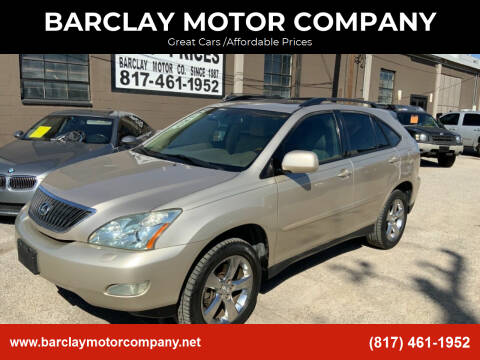 2006 Lexus RX 330 for sale at BARCLAY MOTOR COMPANY in Arlington TX
