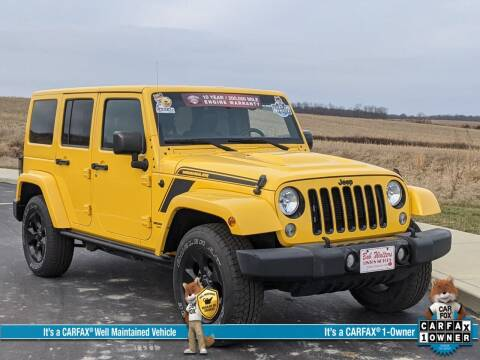 2015 Jeep Wrangler Unlimited for sale at Bob Walters Linton Motors in Linton IN