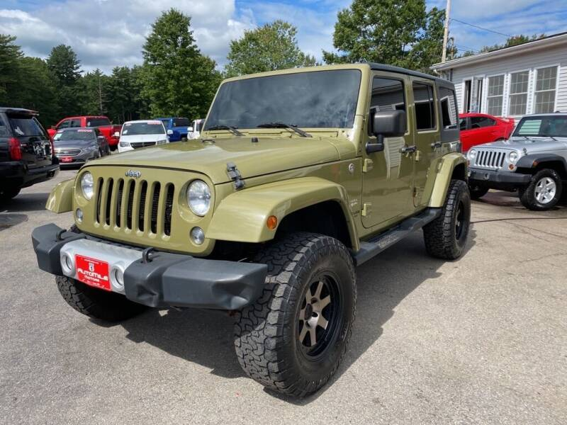 2013 Jeep Wrangler Unlimited for sale at AutoMile Motors in Saco ME