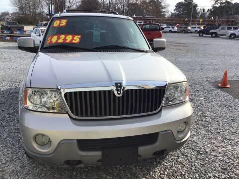 2003 Lincoln Navigator for sale at K & E Auto Sales in Ardmore AL