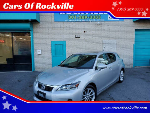 2012 Lexus CT 200h for sale at Cars Of Rockville in Rockville MD