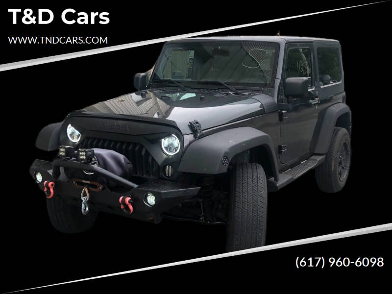2010 Jeep Wrangler for sale at T&D Cars in Holbrook MA