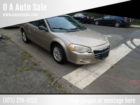 2004 Chrysler Sebring for sale at O A Auto Sale in Paterson NJ