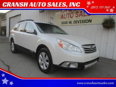 2011 Subaru Outback for sale at CRANSH AUTO SALES, INC in Arlington TX