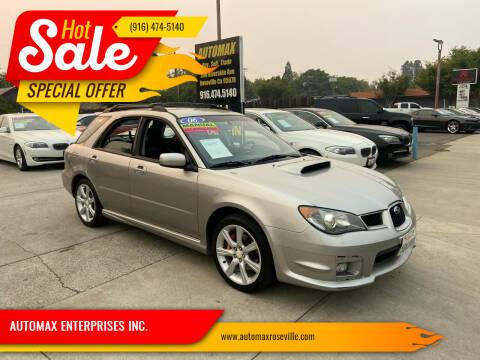 2006 Subaru Impreza for sale at AUTOMAX ENTERPRISES INC. in Roseville CA