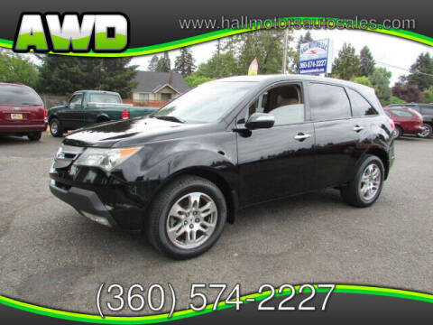 2009 Acura MDX for sale at Hall Motors LLC in Vancouver WA