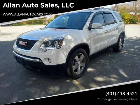 2010 GMC Acadia for sale at Allan Auto Sales, LLC in Fall River MA