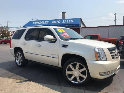 2008 Cadillac Escalade for sale at Gonzalez Auto Sales in Joliet IL