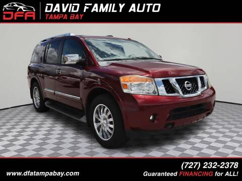 2012 Nissan Armada for sale at David Family Auto, Inc. in New Port Richey FL