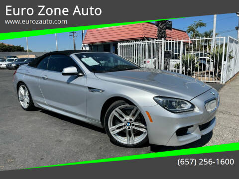 2012 BMW 6 Series for sale at Euro Zone Auto in Stanton CA