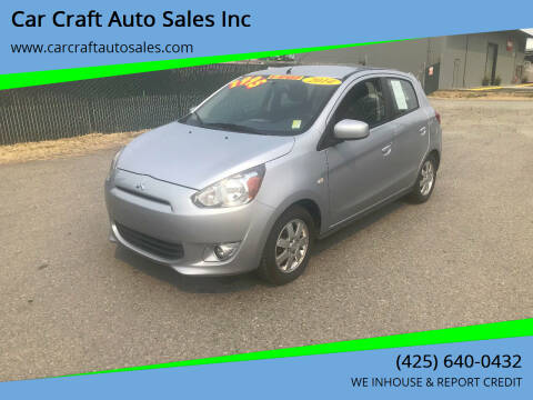2014 Mitsubishi Mirage for sale at Car Craft Auto Sales Inc in Lynnwood WA