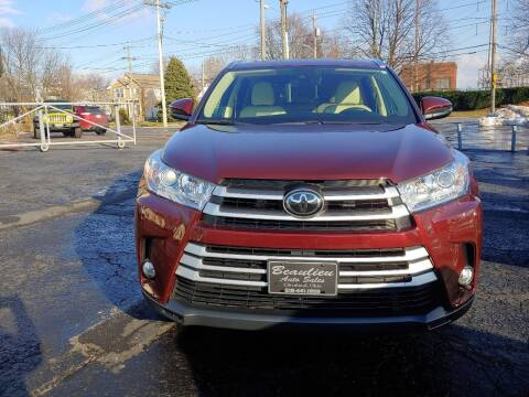 2017 Toyota Highlander for sale at Beaulieu Auto Sales in Cleveland OH
