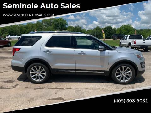 2017 Ford Explorer for sale at Seminole Auto Sales in Seminole OK