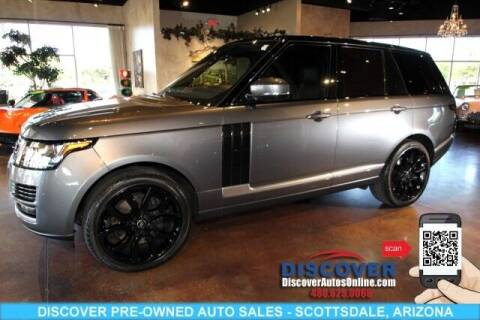 2016 Land Rover Range Rover for sale at Discover Pre-Owned Auto Sales in Scottsdale AZ