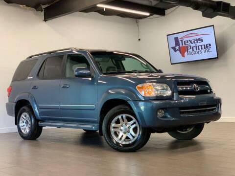 2005 Toyota Sequoia for sale at Texas Prime Motors in Houston TX