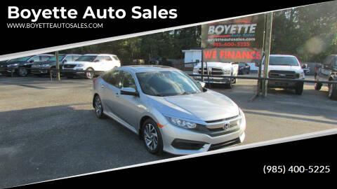 2016 Honda Civic for sale at Auto Group South - Boyette Auto Sales in Covington LA