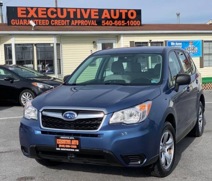 2015 Subaru Forester for sale at Executive Auto in Winchester VA