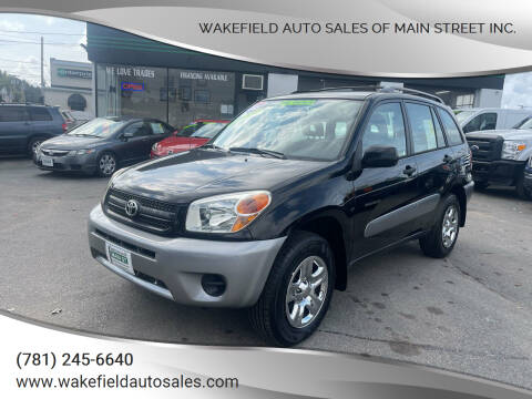 2005 Toyota RAV4 for sale at Wakefield Auto Sales of Main Street Inc. in Wakefield MA