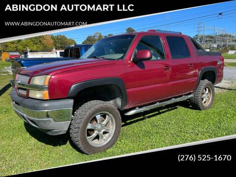2005 Chevrolet Avalanche for sale at ABINGDON AUTOMART LLC in Abingdon VA