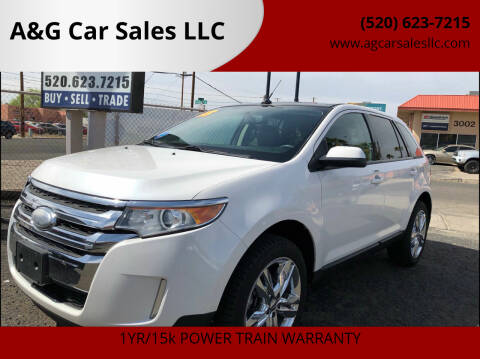 2013 Ford Edge for sale at A&G Car Sales  LLC in Tucson AZ