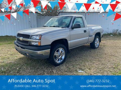 2004 Chevrolet Silverado 1500 for sale at Affordable Auto Spot in Houston TX