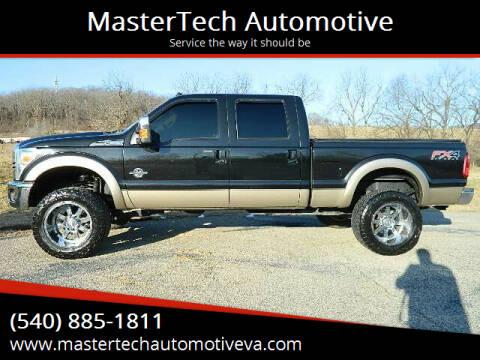 2012 Ford F-250 Super Duty for sale at MasterTech Automotive in Staunton VA