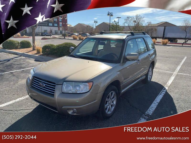 2008 Subaru Forester for sale at Freedom Auto Sales in Albuquerque NM