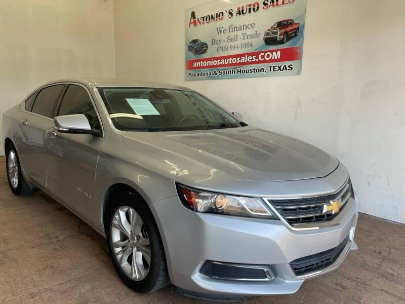 2015 Chevrolet Impala for sale at Antonio's Auto Sales - Antonio`s  3001 in Pasadena TX