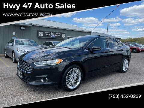 2015 Ford Fusion for sale at Hwy 47 Auto Sales in Saint Francis MN