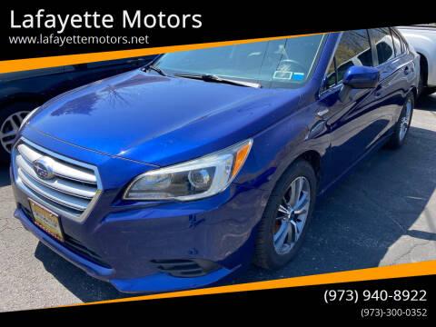 2015 Subaru Legacy for sale at Lafayette Motors in Lafayette NJ