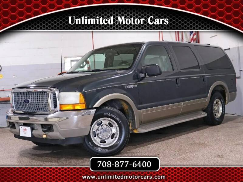 2001 Ford Excursion for sale at Unlimited Motor Cars in Bridgeview IL